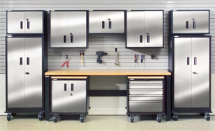 Stainless Steel Garage Cabinets